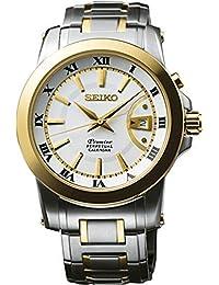 Reloj Seiko Premier Snq142p1 Hombre Blanco