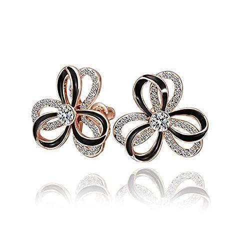 Green Boucles D'oreilles/Diamond Flower Boucle D'oreille/Dames De Fashion Earrings