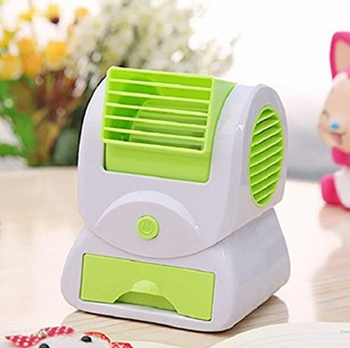 Leafless Fan New Scented Home Ultra ruhig Blattloser Turbo Fan Desktop Mini USB Fan Arbeitstisch, Schlafzimmer (Farbe : Grün) -