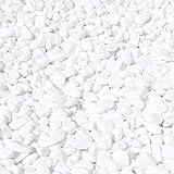 MGS SHOP Dekokies Dekosteine Streudeko Kies - Farbe wählbar (5 kg, Schneeweiß 15-25) - 3