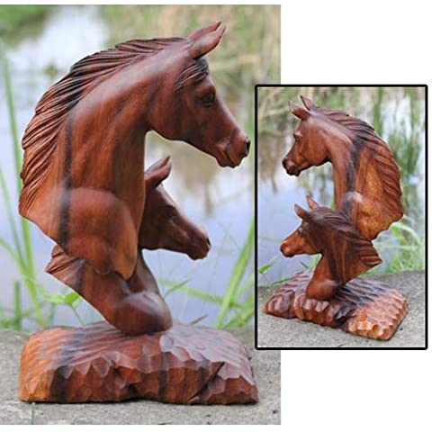 Stunnibng grande in legno intagliato, a forma di testa di cavallo - Grande Testa Di Cavallo