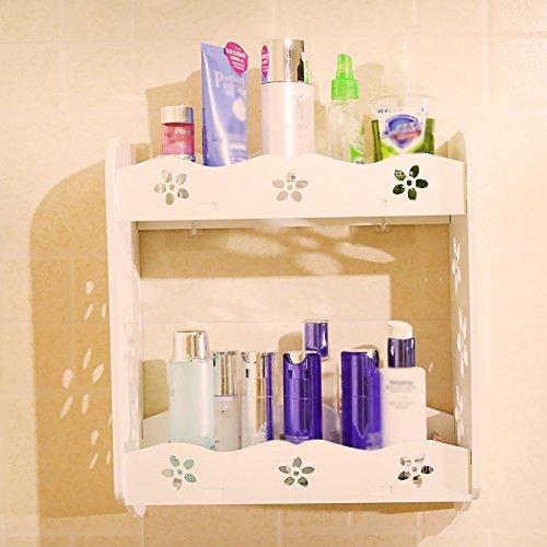Cosmétique / maquillage mural Similaire Oragnizer / Case Conteneur de rangement pour table de toilette ( taille : Double layers )