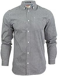 Chemise à carreaux vichy à manches longues 'Requiem par Tokyo Laundry pour homme