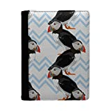 Puffin Bird Pattern Printed Passport Holder With Pockets For Travel Documents, Credit Cards & Pen Holder By Humblebee London - HB-HPH-S6290