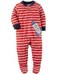Carter's Schlafanzug 104/110 Fleece Einteiler Junge Boy warm Weich Winter Reißverschluss