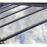 Plata reflectante película para ventana de (Solar Control y privacidad Tint–de una manera espejo/cristal de espejo) (76cm x 3Metre)