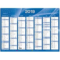 QUO VADIS - Calendrier de Banque Bleu - Janv. à Déc. 2019 - Format: 21 x 27 cm
