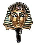 Faschingsfete Pharaonen Maske Wanddeko Dekoration Ägypten Cleopatra Fasching bronze glänzend, Mehrfarbig