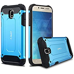 Galaxy J5 2017 Funda, J&D [Armadura Delgada] [Doble Capa] [Protección Pesada] Híbrida Resistente Funda Protectora y Robusta para Samsung Galaxy J5 (Release in 2017) - Azul