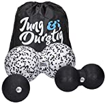Jung & Durstig Original Faszienball-Set | Massageball | Twinball | Faszienrolle Wirbelsäule | Duoball 8 u 12cm inkl Ebook