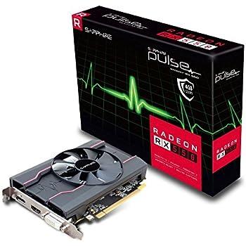 Sapphire Pulse Radeon RX 550 4GB GDDR5 HDMI / DVI-D / DP OC Graphics Card (11268-01-41G)