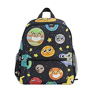 51lc51itluL. SS300  - CPYang Mochila para niños con Sistema Solar Planet Emoji School Bag Kindergarten Preescolar Mochila para niños y niñas