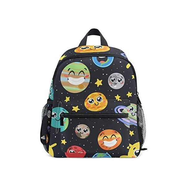 51lc51itluL. SS600  - CPYang Mochila para niños con sistema solar Planet Emoji School Bag Kindergarten Preescolar Mochila para niños y niñas
