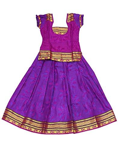 Kanakadara Self Design Girl's Lehenga Choli( Size : 6-12 Months)