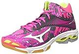 Mizuno Damen Wave Lightning Z4 Mid WOS Volleyballschuhe, Pink (Pinkglowhiteirongate), 41 EU