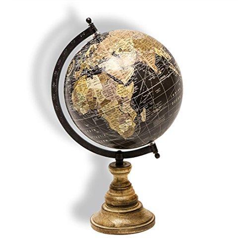 Globus Weltkugel Antik Stil Wandkarte Welt Weltkarte Vintage Historisch Erde von Hausderherzen®