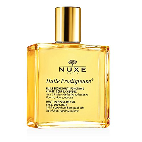 NUXE – Dry Oil Huile Prodigieuse MULTI-USAGE SKIN CARE – NOURISHES, REPAIRS AND SOFTENS – Face Body and Hair – Pack 2 x 100ML
