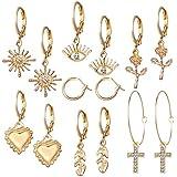 Orecchini da donna 7 paia Set di gioielli Set di orecchini a cerchio Orecchini a cerchio pendenti , Orecchini a cerchio per d