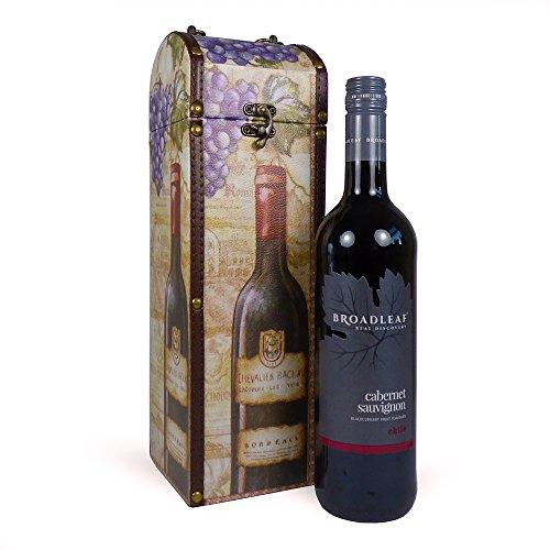 75cl Broadleaf vino tinto presentado en nuestro impresionante 'Roma' portador de vino de diseño - Idea de regalo perfecto para él o ella