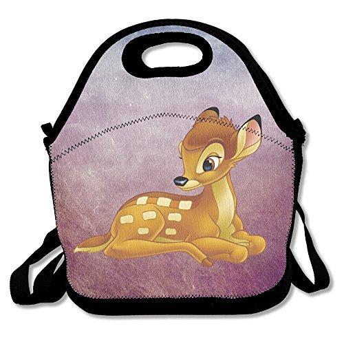 Bambi Sac à lunch déjeuner Boîtes, extérieur étanche Voyage pique-nique Lunch Box Sac fourre-tout avec fermeture Éclair et bandoulière réglable