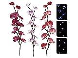 Exklusive Innen Deko Kunst Pflanze Orchidee XXL mit LED Beleuchtung (brombeer dunkel / lila)