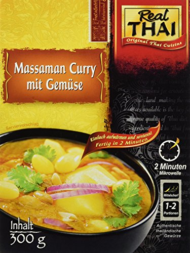 Real Thai Massaman Curry mit Gemüse, 3er Pack (3 x 300 g)