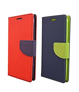 COVERNEW 2 Flip cover for Xiaomi Redmi Note 4G - Red::Blue