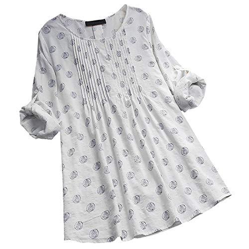 Mens Off White Kleid (Overdose Casual Frauen Stehkragen Langarm Beiläufige Lose Tunika Tops T Shirt Bluse Damen Sommer Herbst Langarmshirt Freizeit Oberteile Blusentops Shirts)