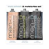 Travel - men-u - 3 x 15 ml - Matt Refresh & Moisturise Set - Gesichtspflege für fettige Haut (mit Gesichtsreiniger)
