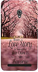 PrintVisa Quotes Lovestory Trees Case Cover for Asus Zenfone 6