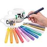 #2: Bianyo Acrylic Paint Deco Marker Pens- Fine Tip Art Liquid Highlighters Set for Rocking Painting, Drawing, Coloring on Wood, Stones, Fabric, Glass, Ceramics, 24 Colors