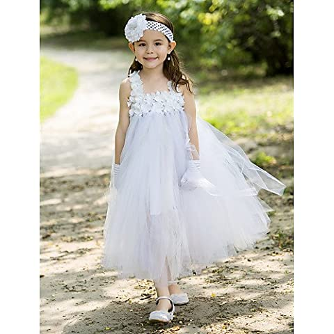 ZY/Ball Gown polpaccio Flower Girl Dress – Rayon, blushing