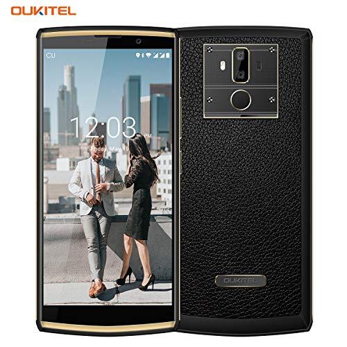 10000mAh Smartphone, OUKITEL K7 6 Zoll Dual SIM Handy ohne Vertrag, 4GB RAM 64GB ROM, (13MP+2MP Hintere Kamera, 5MP Vordere Kamera), 9V/2A Quick Charge, Andrid 8.1 Smartphone Fingerabdruck Dual-sim-handy