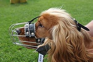 NEW Muselière pour chien Panier Métallique Solide en métal pour Cocker Spaniel 3–3x