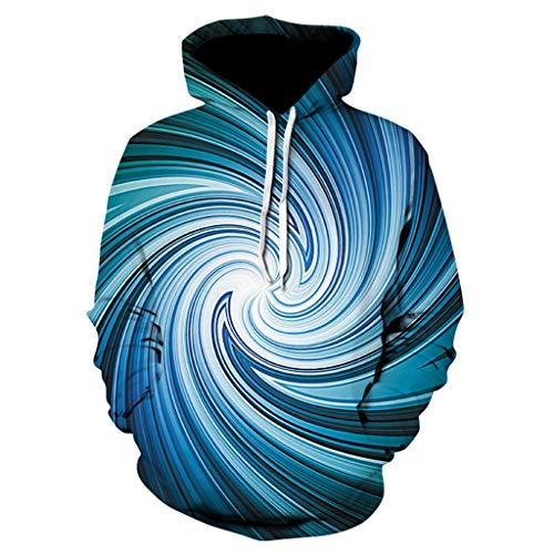 Men's Unisex Hoodies Sweatshirt Pullovers 3D Print Tracksuit Zip-up Jacket ◆Elecenty Kapuzenpullover Vortex Pullover Sternenhimmel Mantel Outwear Tops -