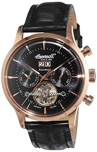 Ingersoll Herren-Armbanduhr Kearny Chronograph Automatik Leder IN1709RBK