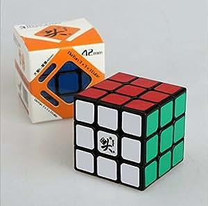 KSF(TM) Dayan ZhanChi Cube Noir 42mm 3x3x3 trois vitesses Magique Puzzle Cube 6-Couleur de vitesse Cube Magique speed cube 100% Original