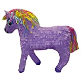 Purple Unicorn Pinata With Rainbow Mane