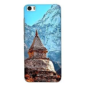 CrazyInk Premium 3D Back Cover for Xiaomi Mi5 - Himalaya Temple