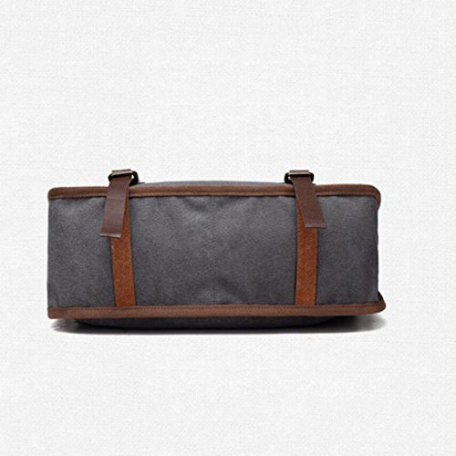 Lässige Kleidung Leinwand Handtaschen Big Bags Europa Mode Trends Schulter- Messenger Handtaschen Einkaufstasche Gray