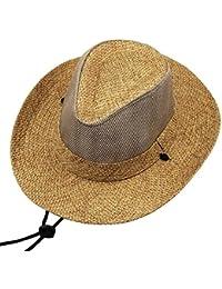 Alessioy Cappello da Cowboy Occidentale Cowboy Uomo da Cappello da Elegante  Unico Traspirante in Maglia Estiva b78e3e050aae