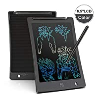 Arolun LCD Writing Tablet, 8.5 Inch Colorful Screen Digital eWriter Electronic Graphics Tablet Portable Writing Board Handwriting Doodle Drawing Pad for Kids Adult Home School Office(Black)