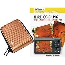 Pack de ahorro Progallio - Foto-funda RETRO para cámara de fotos con bronce de fotos COOLPIX para Nikon COOLPIX S6800 S6600 S6500 S6400 S6200 S6100 S5300 S5200 S4300 S3600 S3500 S2800 S2700 S2600 P310 L25 L26 L28 L29