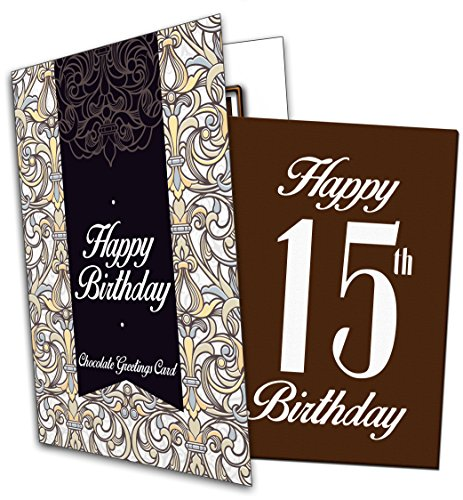 Price comparison product image Happy 15th Birthday - Chocolate Greeting Card