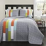 Best Lush Decor Home Fashion Kids - Lush Decor 3 Piece Shelly Stripe Quilt Set Review