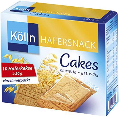4x Kölln Cakes Haferkekse 200g knusprig - getreidig Hafer kekse snack