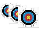 JVD 10er Set 40er FITA WA Papierauflage Scheibenauflage Zielscheibe Bogensport 40x40