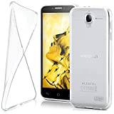 moex Alcatel One Touch Idol 6030D / 6030X | Hülle Silikon Transparent Klar Clear Back-Cover TPU Schutzhülle Dünn Handyhülle für Alcatel OneTouch Idol 6030D Case Ultra-Slim Silikonhülle Rückseite