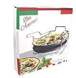 Pizzabackset 3tlg mit Staender Antihaftbeschichtung 32,5 cm