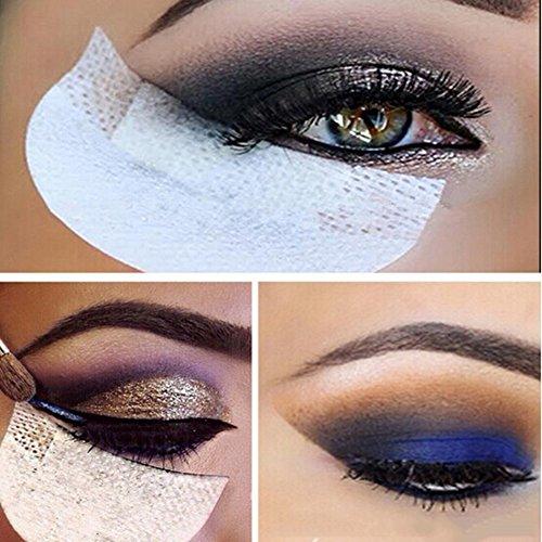 Professionelle 100PCS weißer weich fussel unter Augen Lippe patch pad - Lidschatten Shields Pads Abdeckungen für Augen Make Up Hilfe -